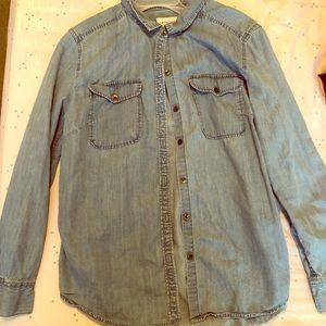 3 for $12 Liz  Claiborne Button Up Jean Shirt